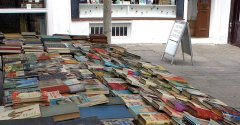 A book stall at Camden Passage, Islington