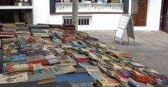 A book stall at Camden Passage, Islington