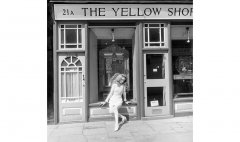 John Cole 1969 fashion shoot in Camden Passage, London